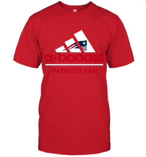 tyjn a badass new england patriots mashup adidas nfl shirts jersey t shirt 60 front red