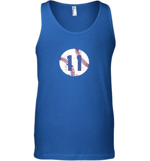 dpsn vintage baseball number 11 shirt cool softball mom gift unisex tank 17 front royal