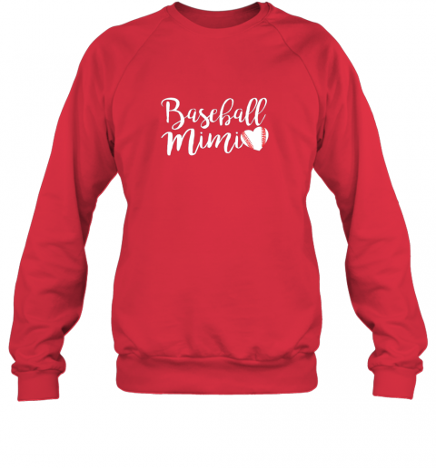wj5g funny baseball mimi shirt gift sweatshirt 35 front red
