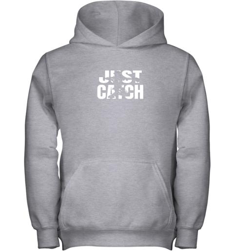 pqr4 just catch baseball catchers gear shirt baseballin gift youth hoodie 43 front sport grey