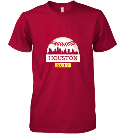 y1xb houston baseball shirt 2019 astro skyline on giant ball premium guys tee 5 front red