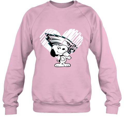 lnm3 i love philadelphia eagles snoopy in my heart nfl sweatshirt 35 front light pink