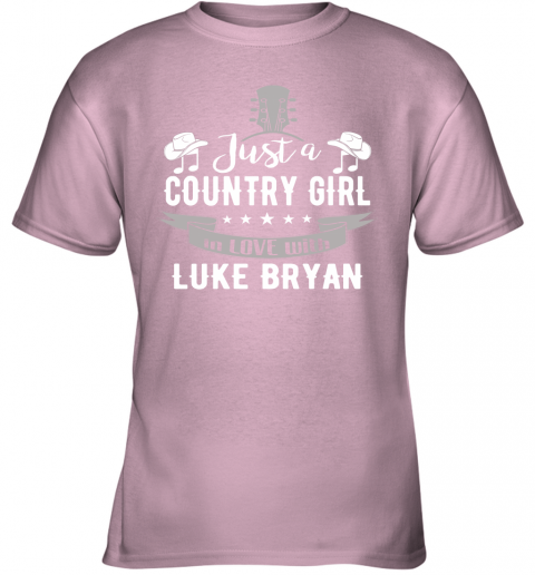 tuv8 just a country girl in love with luke bryan shirts youth t shirt 26 front light pink
