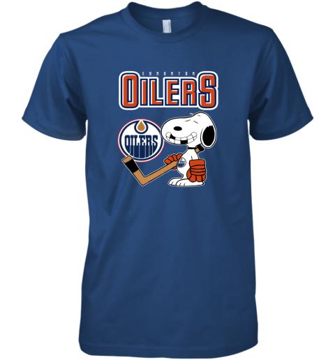 tcz8 edmonton oilers ice hockey broken teeth snoopy nhl shirt premium guys tee 5 front royal