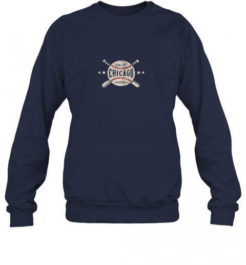 rpe7 chicago illinois il shirt vintage baseball graphic sweatshirt 35 front navy
