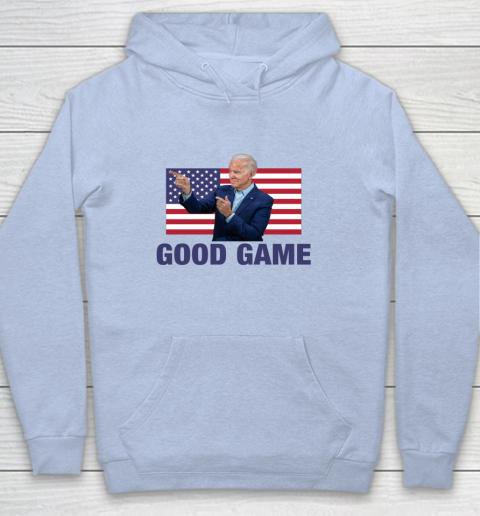 Good Game Joe Biden American Flag Winner Democrat Byedon Hoodie 5