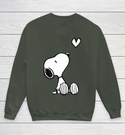 Peanuts Valentine Snoopy Heart Youth Sweatshirt 8