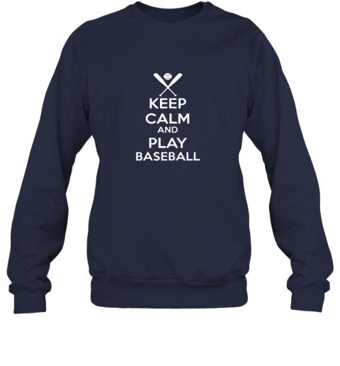 vnuz keep calm and play baseball sweatshirt 35 front navy