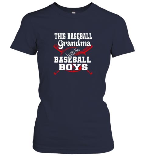 kr43 this baseball grandma loves her baseball boys ladies t shirt 20 front navy