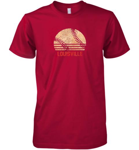 um82 vintage baseball louisville shirt cool softball gift premium guys tee 5 front red