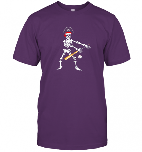 l6qs skeleton pirate floss dance with baseball shirt halloween jersey t shirt 60 front team purple
