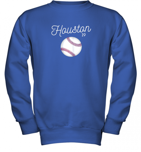 ykv4 houston baseball shirt astro number 19 and giant ball youth sweatshirt 47 front royal