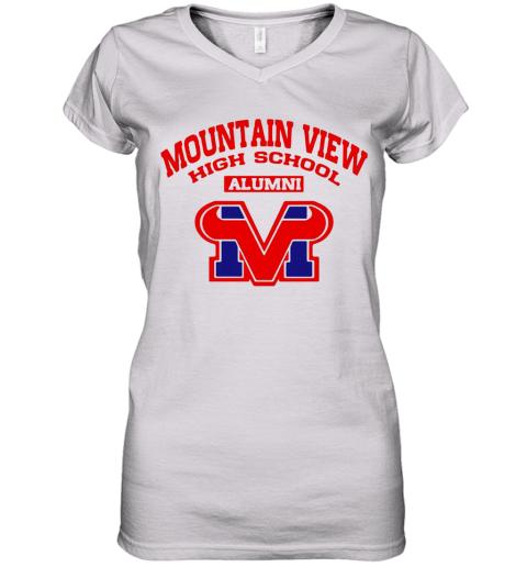 Mountain View High School Alumni Logo Women's V-Neck T-Shirt