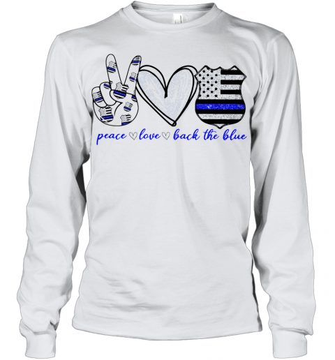 Peace Love Back The Blue Youth Long Sleeve