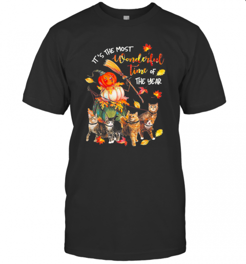 It's Just A Bunch Of Hocus Pocus Witch Cat Halloween T-Shirt