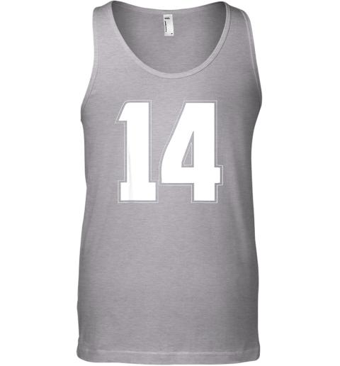um7d halloween group costume 14 sport jersey number 14 14th bday unisex tank 17 front sport grey