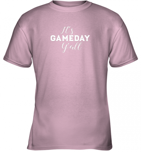ywng it39 s game day y39 all football baseball basketball youth t shirt 26 front light pink