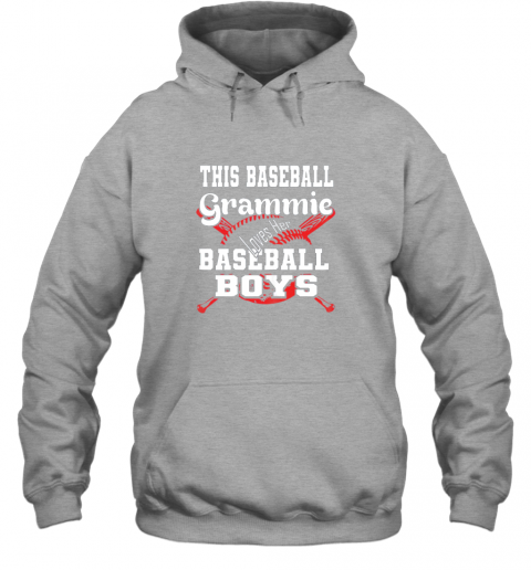 nnhy this baseball grammie loves her baseball boys hoodie 23 front sport grey