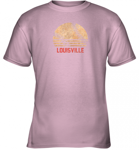 ptc3 vintage baseball louisville shirt cool softball gift youth t shirt 26 front light pink
