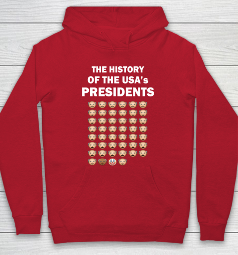 The History of The USA Presidents Emoji Style Anti Trump Updated with Biden Hoodie 7