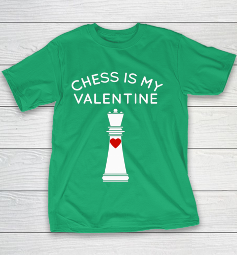 Chess Is My Valentine Youth T-Shirt 3