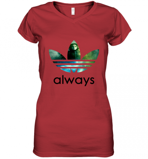 rmwk adidas severus snape always harry potter shirts women v neck t shirt 39 front red