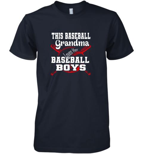 2x5w this baseball grandma loves her baseball boys premium guys tee 5 front midnight navy