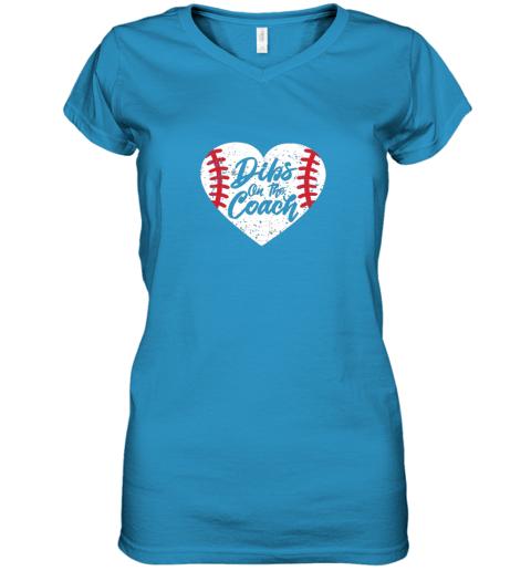 11ll dibs on the coach funny baseball women v neck t shirt 39 front sapphire