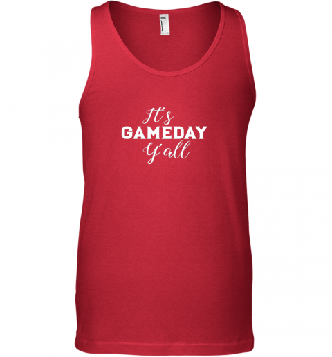 c5ut it39 s game day y39 all football baseball basketball unisex tank 17 front red