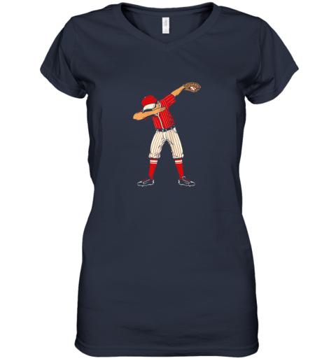 v5m0 dabbing baseball catcher gift shirt kids men boys bzr women v neck t shirt 39 front navy