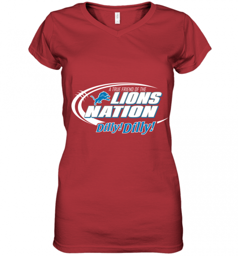 tfvl a true friend of the lions nation women v neck t shirt 39 front red
