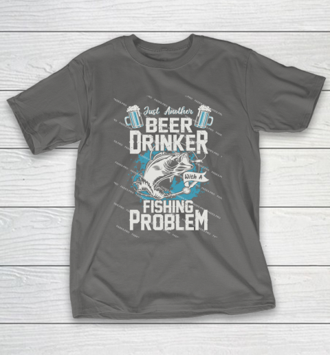 Beer Lover Funny Shirt Fishing ANd Beer T-Shirt 8