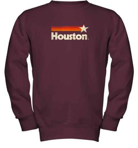 t0lx houston texas shirt houston strong shirt vintage stripes youth sweatshirt 47 front maroon