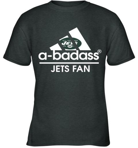 xdyk a badass new york jets mashup adidas nfl youth t shirt 26 front dark heather