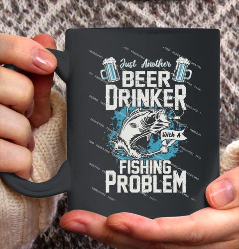 Beer Lover Funny Shirt Fishing ANd Beer Ceramic Mug 11oz 1