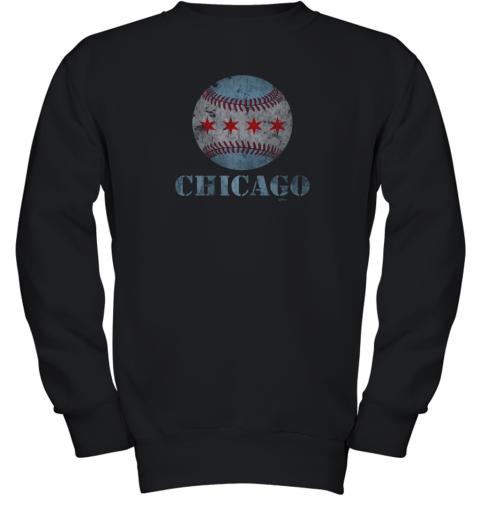 Vintage Chicago Baseball Flag Youth Sweatshirt