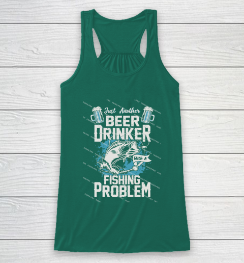 Beer Lover Funny Shirt Fishing ANd Beer Racerback Tank 5