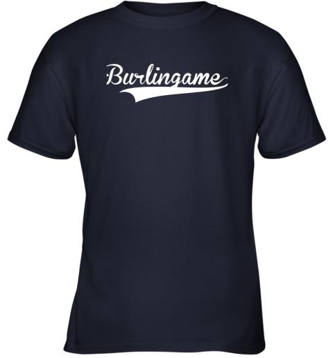 yzq8 burlingame baseball softball styled youth t shirt 26 front navy