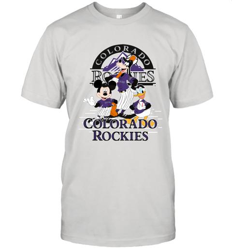 Colorado Rockies Mickey Donald And Goofy Baseball Unisex Jersey Tee