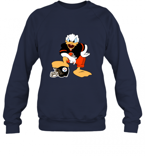 8ht2 you cannot win against the donald cleveland browns nfl sweatshirt 35 front navy
