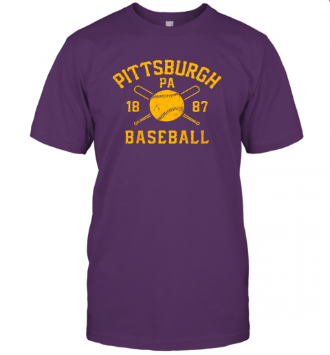 nzh7 vintage pittsburgh baseball pennsylvania pirate retro gift jersey t shirt 60 front team purple