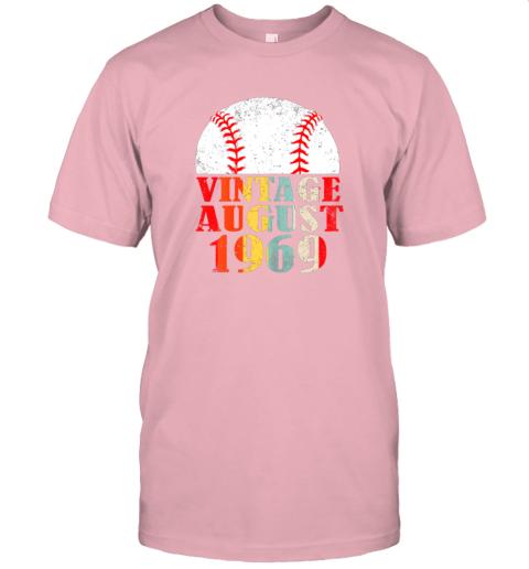 gxor born august 1969 baseball shirt 50th birthday gifts jersey t shirt 60 front pink