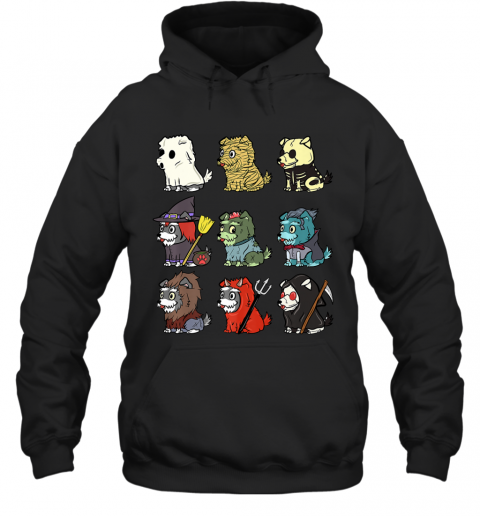 Schnauzer Scary Costumes Funny Dog Halloween Gift Premium T-Shirt Hoodie