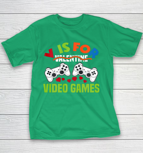 Funny Video Games Lover Valentine Day Youth T-Shirt 3