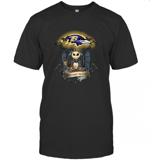Baltimore Ravens Jack Skellington This Is Halloween NFL T-Shirt