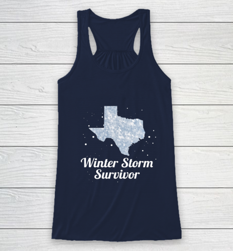 I Survived Winter Storm Texas 202 Racerback Tank 8