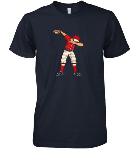 pipz dabbing baseball catcher gift shirt men boys kids bzr premium guys tee 5 front midnight navy