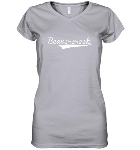 c0yn beavercreek baseball styled jersey shirt softball women v neck t shirt 39 front sport grey