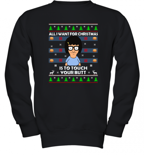 All I Want For Christmas Is To Touch Your Butt Youth Sweatshirt