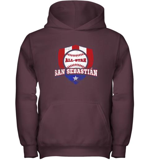 jv9h san sebastian puerto rico puerto rican pr baseball youth hoodie 43 front maroon